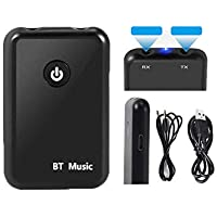 Farraige® Bluetooth 4.1 Transmitter Receiver Portable 2-in-1 Wireless Audio Adapter 3.5mm Stereo Output for Headphones, TV, Computer/PC, MP3 / MP4 Player, Car Stereos