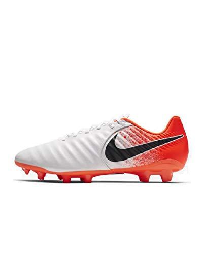 Nike Men's Legend 7 Academy Soccer Cleat White/Black/Hyper Crimson Size 6.5 M US