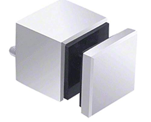 CRL SS0B2134PS 316 Polished Stainless Glass Rail Square Standoff Base and Cap - 1-3/4