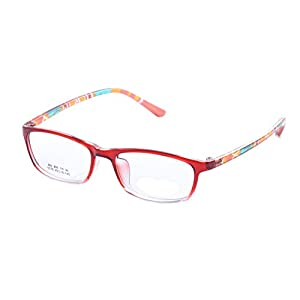 De Ding Boys Girls Eyeglasses Multicolored Kids Tr90 Frame (red)