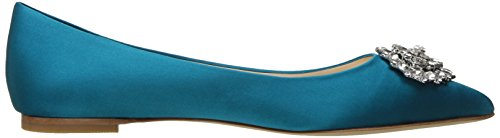 Toe Calypso Blue Badgley Pointed Mischka Davis Women's Flat RYWwBIYqzx