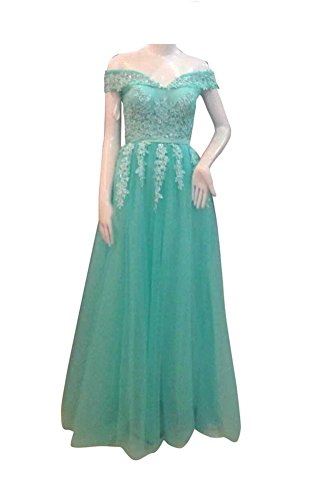 Always Pretty Women's Off-Shouler Lace Long Evening Dress Prom Gown