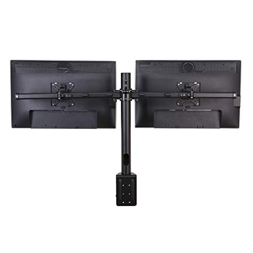 FlexiSpot Dual Monitor Mount for 17-36 inches Ultra Wide LCD Screens with Quick Release Fast Insert Bracket