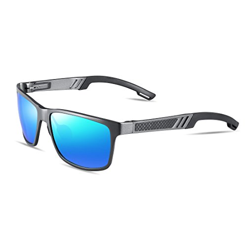 ATTCL Men's Hot Retro Driving Polarized Wayfarer Sunglasses Al-Mg Metal Frame Ultra Light