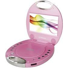 SYLVANIA SDVD7046-PINK 7'' Portable DVD Players with Integrated Handle (Pink)