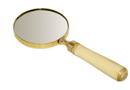Magnifying Glass for Close Work & Reading Magnifier Handheld Desk Accessories for Men Faux Ivory ()