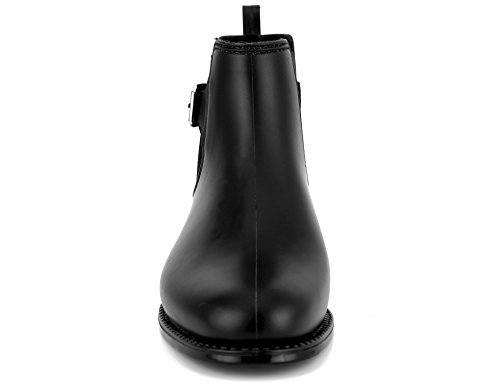 MaxMuxun Womens Elastic Rubber Ankle Black Rain Bootie Size 7 by MaxMuxun (Image #5)
