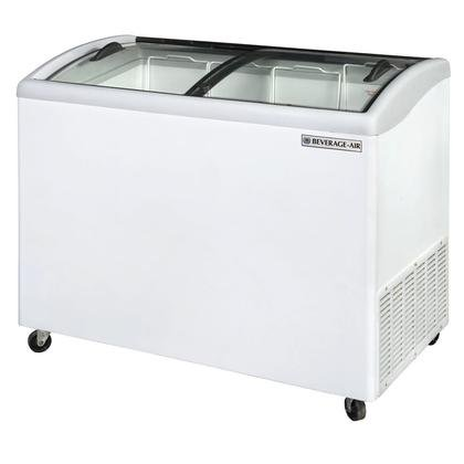 Beverage-Air NC43-1-W Curved Lid Display Freezer/Novelty Case in White 8.7 Cu.