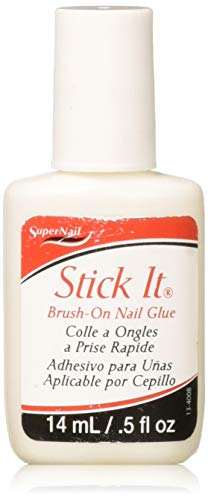 (Super Nail Stick It Glue Brush-on, 0.5 Fluid Ounce )