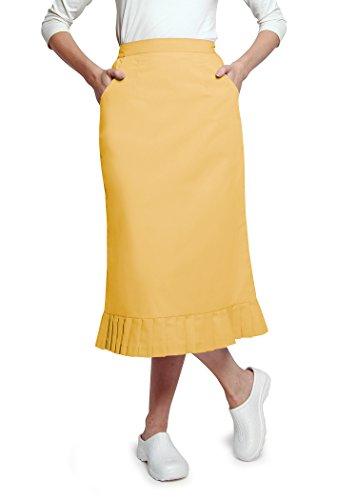 Adar Universal Pleat Flounce Scrub Skirt - 708 - Honey - (Pleats Poplin Skirt)