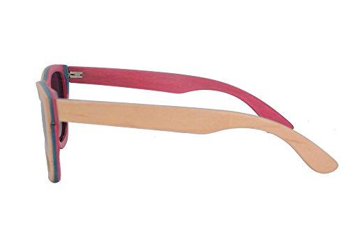 de de grey SHINU Soleil pink Cas en Miroir Lunettes Polarisée Bois Skate avec Marcheurs Flash blue Z68004 Lunettes nature 0YYRHqrU5