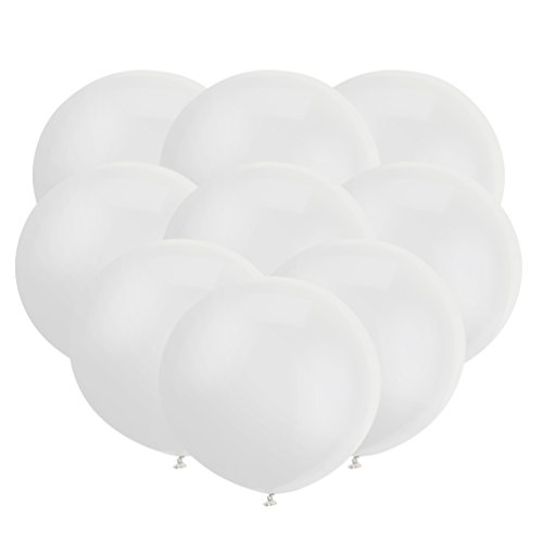 GuassLee 18 Inch Big Balloon Latex Giant Balloon Jumbo Thick Balloons for Photo Shoot/Birthday/Wedding Party/Festival/Event/Carnival Decorations 30ct/Pack White -