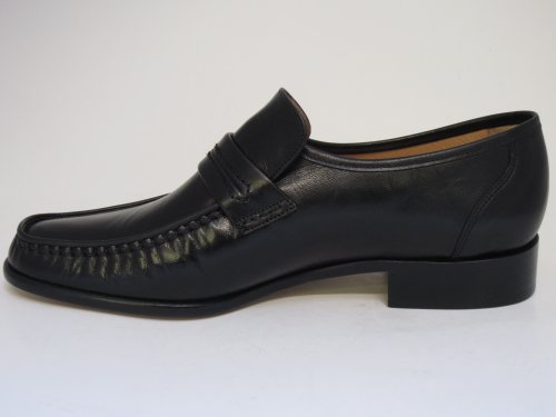 Mens Grensons Watford Moccasin Black Shoes f6nfz