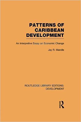 patterns of caribbean development an interpretive essay on patterns of caribbean development an interpretive essay on economic change 1st edition