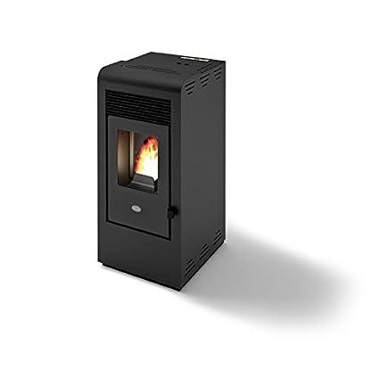 Eva Calor - Rita - 901655900 - Estufa de pellets de 9 kW, acabado negro