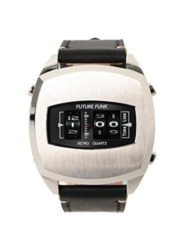 BEAMS (빔스) 손목시계 FUTURE FUNK / FF101 ANA-DEGI 워치(실버) 맨즈 SILVER -