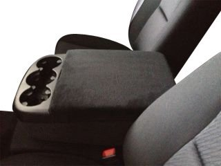 Car Console Coves Plus Fits GMC Sierra Trucks 2014-2019 Fleece Fleece Center Armrest Cover for Center Console Lid Made in USA