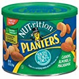 Planters Nut - Rition Mix South Beach Diet Recommended Cashews Almonds & Macadamias with Sea Salt - 12 Pack