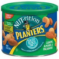 Planters Nut - Rition Mix South Beach Diet Recommended Cashews Almonds & Macadamias with Sea Salt - 12 Pack by Planters