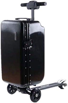 2020電動通勤スクーター、22インチ電動スーツケース、ポータブルスマートライディングトラベルスーツケースは、子供用の取り外し可能なUSB電動スクーターで荷物を運ぶキックスクーター通勤電動スクーターーブラック公道走行可能ンクボード本体 キックスク大人バイク本体 バランススクーター 電気キックスクーター電動ウォーキングスーツケース