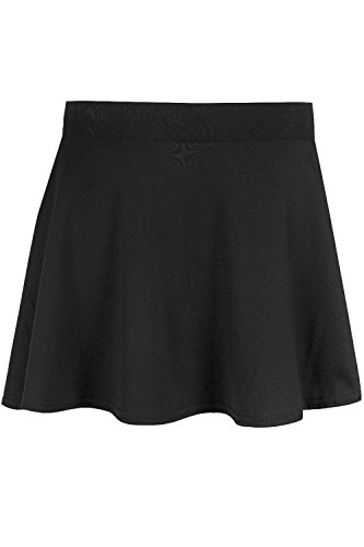 6d3512326a Be Jealous Kid's Skater Skirt School Uniform High Waist Stretch Swing Mini  Skirt Age 9/10 years Black: Amazon.ca: Clothing & Accessories