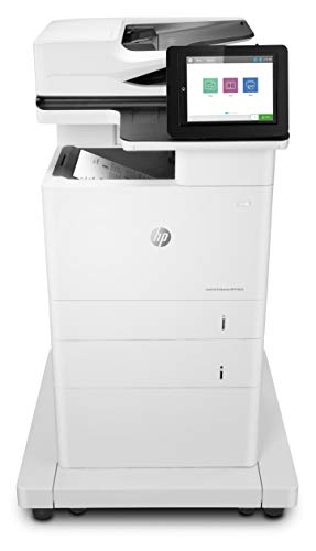 HP Laserjet Enterprise MFP M635fht Monochrome Multifunction Printer with Extra Paper Tray and Wheeled Stand (7PS98A)