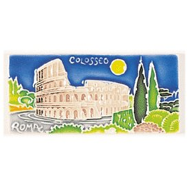 Amalfi Hand Painted Decorative Collesium Tile - Handmade in