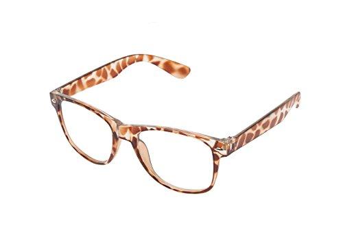 vintage Boolavard nerd de de lunettes paire retro soleil style Leopardenfell au style lunettes unisexe Classique clear Klar vBqnvwxA