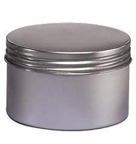 (3PCS 250ML 8.5 Oz Round Wide Aluminum Tin Jar Pot Tea Tins Bottles Box With Screw On Twist Top Lids For Butter Salve Gift Giving )
