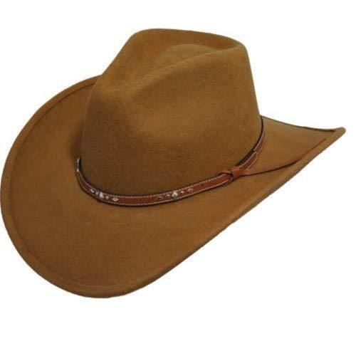 Eddy Bros. Men Buckhorn Western Hat Pecan 7 1/4