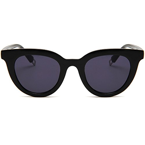 Hukai New Fashion Colorful Retro Personality Cat Eye Sunglasses Small Framed Sunglasses - Framed Small Sunglasses