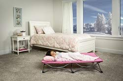 Regalo My Cot Pink Portable Folding Travel Bed with Travel Bag -