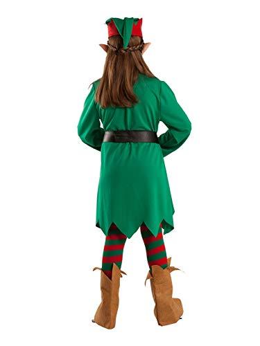 DISBACANAL Disfraz Elfa de la Navidad para niña - Único, 12 ...
