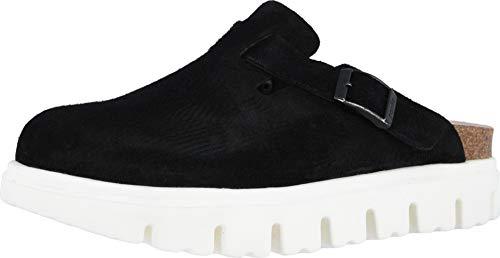 Birkenstock Women's Boston Chunky Clog Black Suede Size 38 N EU