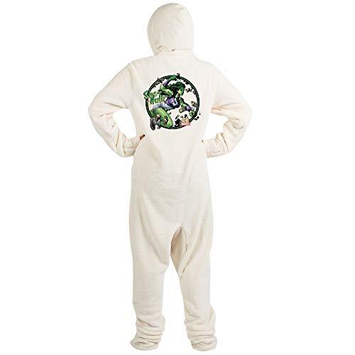 CafePress She Hulk Punching Novelty Footed Pajamas, Funny Adult One-Piece PJ Sleepwear Creme -