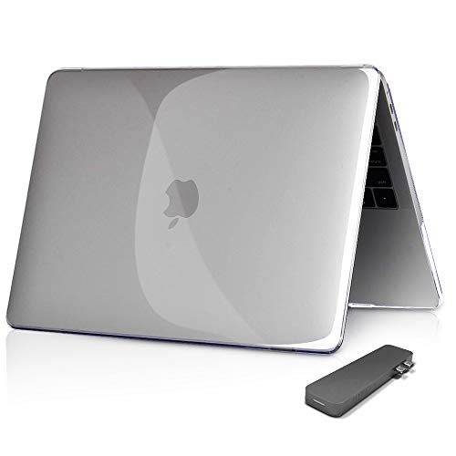 - innowatt MacBook Pro 15 Case 2019 2018 2017 2016 Release A1990/A1707, Hard Case Shell Cover Compatible with USB-C Hubs for Apple MacBook Pro 15 Inch with Touch Bar (Crystal Clear)