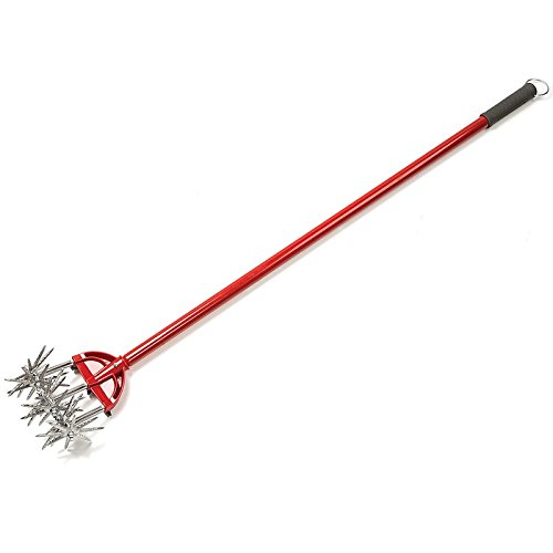 "Garden Weasel Cultivator - Break Up Soil, Detachable Tines, Long Handle, 54.5"" Long"
