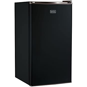 BLACK+DECKER BCRK32B Compact Refrigerator Energy Star Single Door Mini Fridge with Freezer, 3.2 Cubic Ft., Black