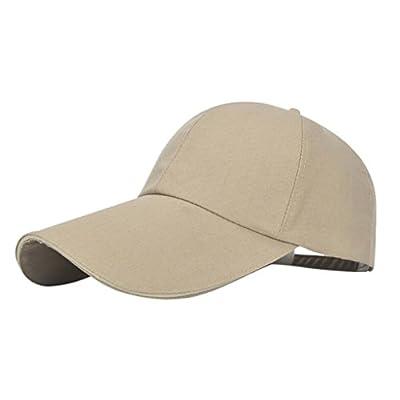Vertily Hat Unisex Casual Solid Visor Adjustable Baseball Snapback Hip-Hop Cap by Vertily