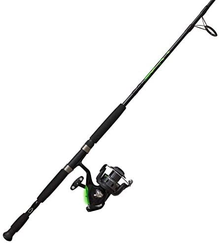 Quantum Fishing Zebco Bite Alert Spinning Reel and 2-Piece Fishing Rod Combo, Instant Anti-Reverse Fishing Reel, Size 60