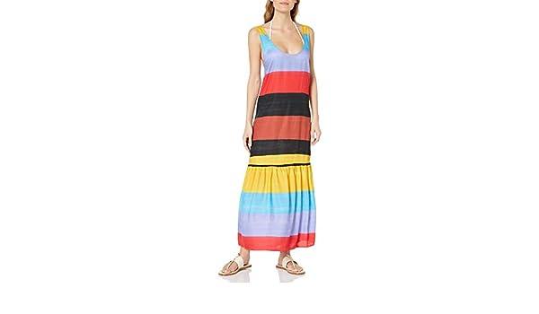 Amazon Com Mara Hoffman Women S Valentina Tank Maxi Coverup Dress Clothing