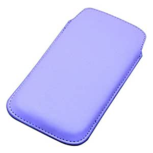 LIMME-ships in 48 hours 13Colors PU Leather Pull Tab Pouch Phone Case Cover For Samsung Galaxy S4 SIV I9500 , Dark Purple