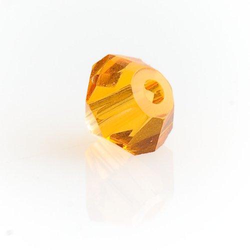 (4mm Topaz 5301 Bi-cone Swarovski Crystal Beads - Pack Of)