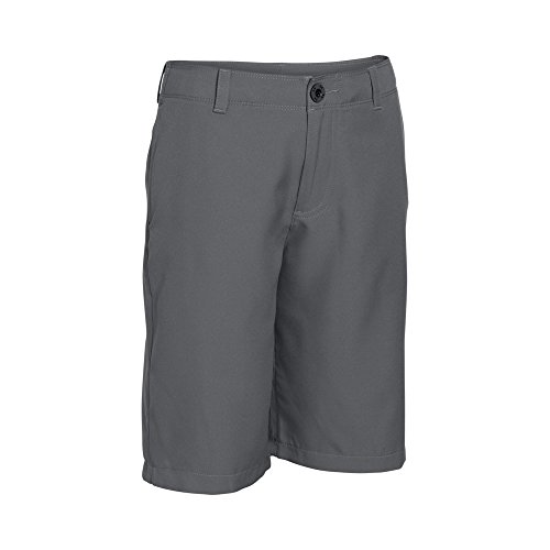 - Under Armour Boys' Medal Play Golf Shorts, Graphite (040)/Black, Youth Large