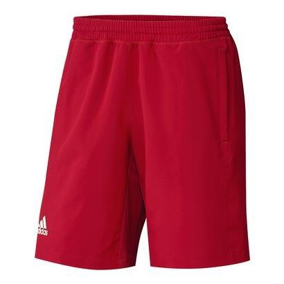 AdidasメンズTeam CCショート B01J4DNG0YPower Red-White Large