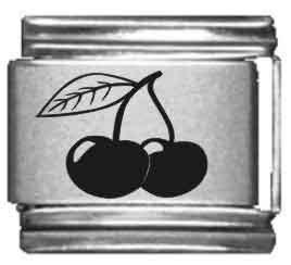 Cherries Laser Italian Charm