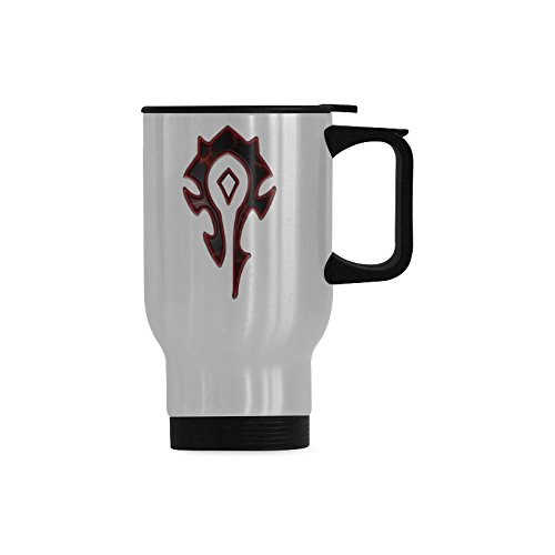 Travel Coffee Mug World Of Warcraft Horde Water Coffee Cup Stainless Steel Tea Cup 14 Ounce