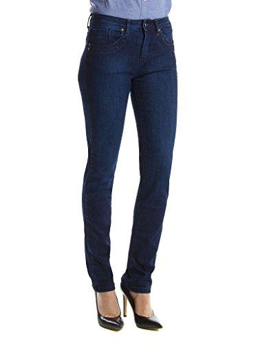 Carrera Jeans - Jeans 752C0970A pour femme, style cigarette, style denim, tissu extensible, taille normale, taille normale 121 - Lavage Bleu Fonc