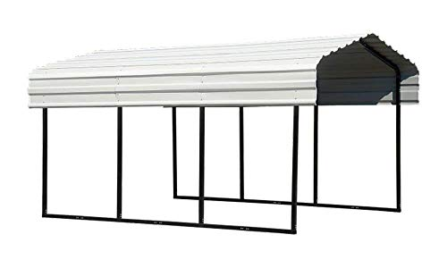 Arrow 10' x 20' x 7' 29-Gauge Carport with Galvanized Steel Roof Panels, 10' x 20' x 7', - Carport Shelter Boat