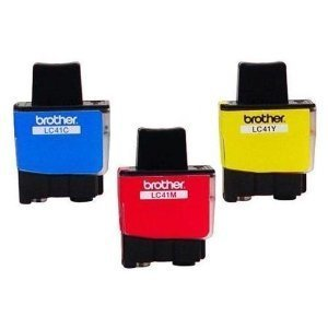Brother LC900 Genuine OEM LC41 Ink Cartridges (1 Cyan, 1 Magenta, 1 Yellow) (Cartridge Printer Lc41)